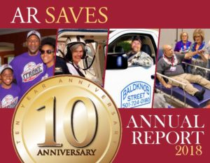 Cover of the 2018 AR SAVES Annual Report